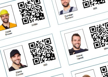TimeDock staff ID cards with QR Code for clocking in to work on construction sites