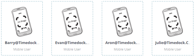 TimeDock mobile users