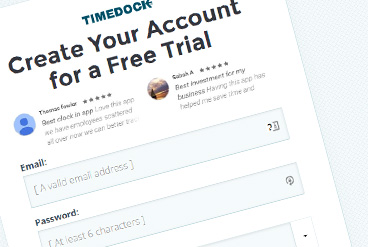 Sign up for TimeDock