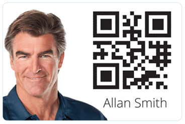 TimeDock employee ID card with QR-code